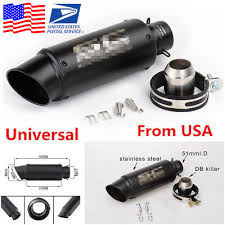 <b>Universal 36-51mm Motorcycle</b> Stainless Steel Exhaust Pipe Muffler ...