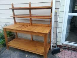how to build a cedar potting bench cedar bench plans