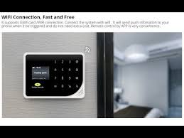 Golden Security Newest GSM <b>WIFI</b> SMS <b>Smart Home Security</b> Alarm ...