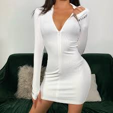 Sexy Zipper <b>Christmas Club Party</b> Dress Women Autumn Winter ...