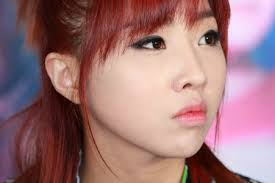 you can add some shimmer to your eye shadow to make it a little less androgynouore like k pop idol minzy