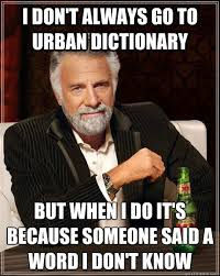 I don't always go to urban dictionary but when I do it's because ... via Relatably.com