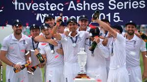 Image result for 2015 Ashes Test series was won by - England