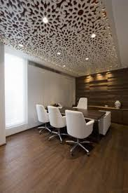 ceiling design cosmos has completed the design of a new office for tulip infratech a real estate development firm based in gurgaon india ceiling designs for office