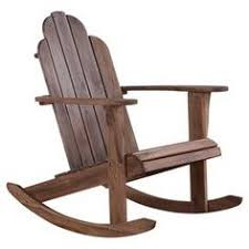 A Perfect Addition To Your Den Or Sunroom This Lovely Acacia Wood Rocking Chair Showcases
