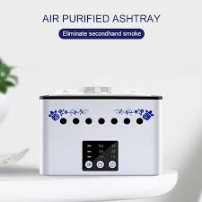 Air Purifier with Detachable <b>Ceramic</b> Ashtray Cover Negative Ion ...