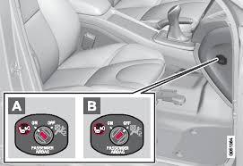<b>Подушка безопасности</b> пассажира – активирование/отключение ...