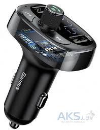 Автомобильное <b>зарядное устройство Baseus T</b>-Typed MP3 Car ...