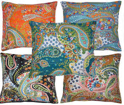 Nautical Home Décor <b>Pillows 2 Pcs</b> Elephant Indian Handmade ...