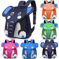 Kindergarten Kids School Bag 3D <b>Cartoon Elephant Backpacks</b> for ...