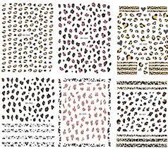 <b>Nail</b> Decoration Tools <b>6 Sheet</b> Leopard Print <b>Nail</b> Art <b>Stickers</b> Self ...