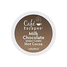 Cafe Escapes, <b>Milk Chocolate</b> Hot <b>Cocoa</b>, Single-Serve Keurig K ...