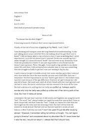 cover letter narrative essay example narrative essay example pdf  cover letter literacy narrative essays examples college essay personal xnarrative essay example