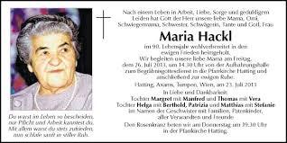 Traueranzeige von Maria Hackl vom 25.07.2013 | Traueranzeige ... - 1526331R