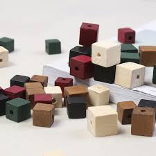 10Pc <b>Handmade Natural</b> Wooden Space <b>12</b>/14mm Blocks Safe ...