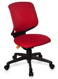 mesh desk chair in red with black 5 star base childrens office chair