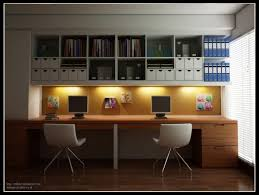 work desks home office. modern home office design for two persons come with natural solid wood desk and built work desks