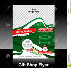 flyer design anuvrat info brochure and flyer template design for gift shop stock vector
