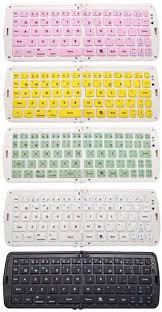 Color : White ZYDP Wirless <b>Folding Bluetooth Keyboard</b> Flat ...