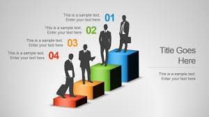 employee skills powerpoint template slidemodel employee performance status slide · 4 steps career chart design businessmen silhouettes · employee skills