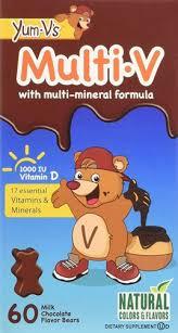 Yum V's <b>Multi</b>-<b>V with Multi-Mineral</b> Formula Dietary Supplement Milk ...
