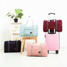 Large Capacity <b>Foldable Travel Bags Nylon Luggage Suitcase Bags</b> ...