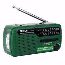 Degen <b>DE13 Portable FM</b> MW SW Manual Cranking Dynamo World ...
