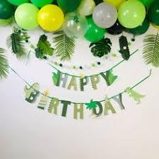 Happy <b>Birthday</b> Party Decor Cartoon Dino Paper Banner Brand ...