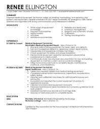 best medical equipment technician resume example livecareer create my resume
