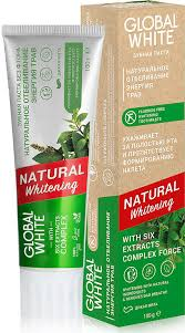 <b>Зубная паста Global White</b> Natural Whitening, отбеливающая ...