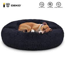 DEKO Super Soft Pet Dog Beds Kennel Round <b>Cushion</b> Fluffy <b>Cat</b> ...