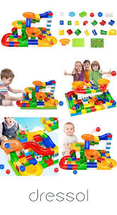 104pcs city building blocks safe and environmentally friendly plastic material big size bricks with legoed duplo box