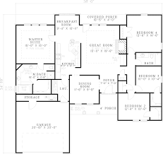 Sabourin Traditional Ranch Home Plan D    House Plans and MoreRanch House Plan First Floor   D    House Plans and More