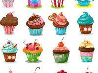 Вектор: лучшие изображения (10) | Рисунки еды, <b>Наклейки</b> и ...
