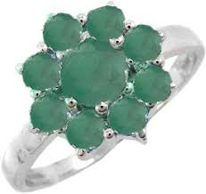 Серебряное кольцо <b>Evora</b> 627883-<b>e</b> с изумрудами — купить в ...