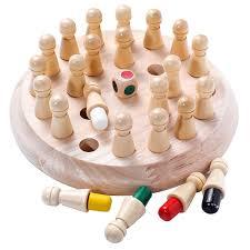 Kids <b>Wooden Memory</b> Match Stick Chess Game Fun Block Board ...