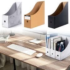 5PCS/Set <b>Storage Box</b> Magazine Office Desktop Foldable <b>Stationery</b> ...