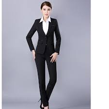 compare prices on black suit interview online shopping buy low fashion style w suit long sleeve formal occasion ladies suit interview black color high quality w