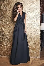 Длинное летнее <b>платье</b> черное с запахом. Купить модное ...