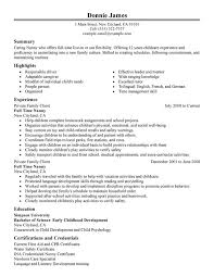 unforgettable full time nanny resume examples to stand out    full time nanny resume sample