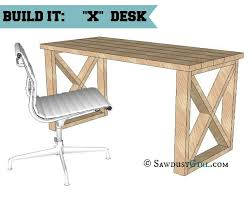 x leg desk plans looks like a basic diy project that you could finish a thousand build rustic office desk
