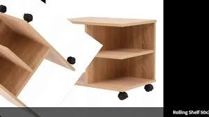 <b>Rolling Shelf 50x35x42 cm</b> white Oak Modern Bedside Table Sofa ...