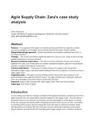 ZARA SPO Case Study Betty Tamara Lena and Lora Documents Chuc  cleanenergycompressioncorp com Mosaic Case Study