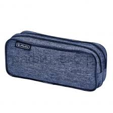 <b>Пенал</b>-<b>косметичка Herlitz Knitted</b> Fabric боковой карман 50027675