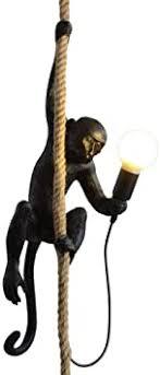 CHABEI <b>Loft Vintage</b> Resin Hemp Rope Monkey <b>Pendant</b> Light ...