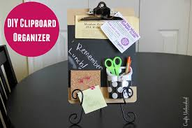 DIY clipboard homework organizer Crafts Unleashed