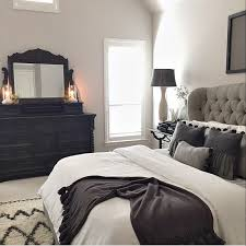 black bed with white furniture. master bed tufted grey headboard black bedroomgray bedroombedroom decordark furniture bedroomwhite with white t
