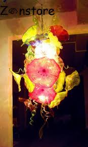 Large Chihuly 100% Hand Blown <b>Glass Plate Chandelier Italy</b> High ...