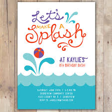 pool party invitation com pool party invitation adorable combination of various color on your invitatios card 7