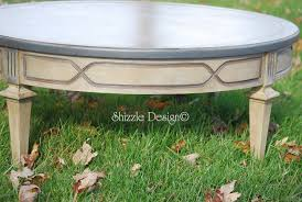 antique round coffee table with old world patina chalk paint coffee table